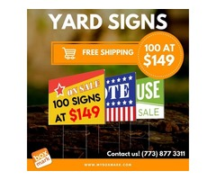 yard signs with stakes near me