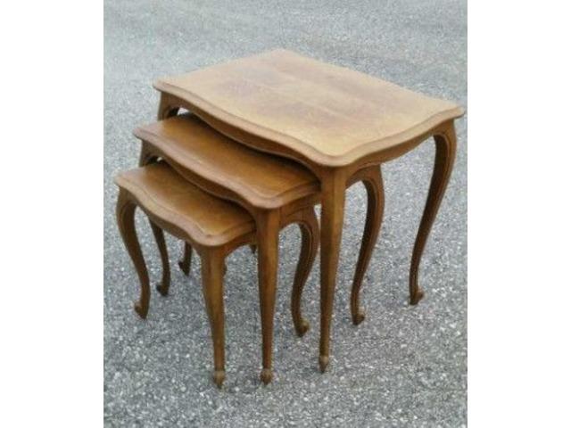Antique Furniture   Oak Nesting Tables