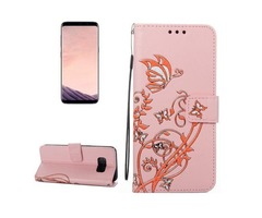 For Galaxy S 8 Pink Voltage Leather Case with Holder, Card Slots