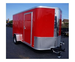 6 x 10 ENCLOSED TRAILER....RAMP DOOR 2018