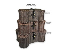 DII Bone Dry Medium Wicker-Like Bone Shape Storage Basket