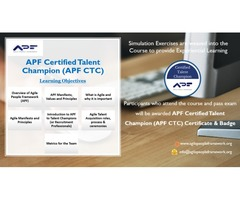 APF Certified Talent Champion (APF CTC) - Online and Cohort Learning