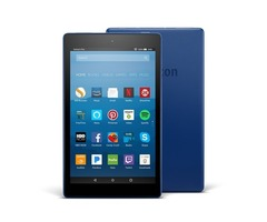 """Fire HD 8 Tablet with Alexa, 8"""" HD Display, 16 GB, Marine Blue - with Special Offers"""