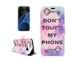 For Galaxy S 8 + Key Pattern Horizontal Flip Leather Case with Holder