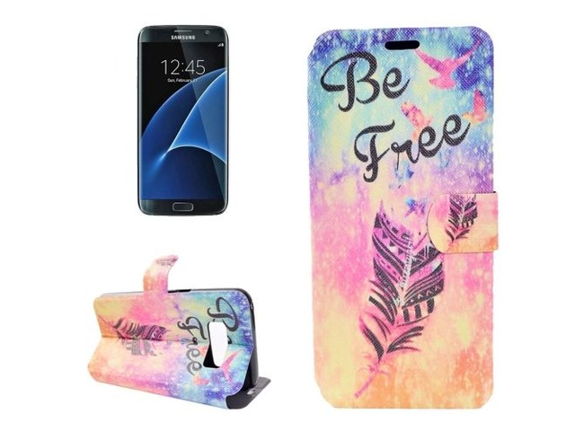 For Galaxy S 8 + Be Free Pattern Horizontal Flip Leather Case with Holder | free-classifieds-usa.com