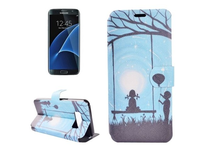 For Galaxy S 8 + Lover Pattern Horizontal Flip Leather Case with Holder | free-classifieds-usa.com