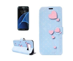 For Galaxy S 8 + Balloon Pattern Horizontal Flip Leather Case with Holder
