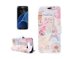 For Galaxy S 8 + Tower Pattern Horizontal Flip Leather Case with Holder | free-classifieds-usa.com