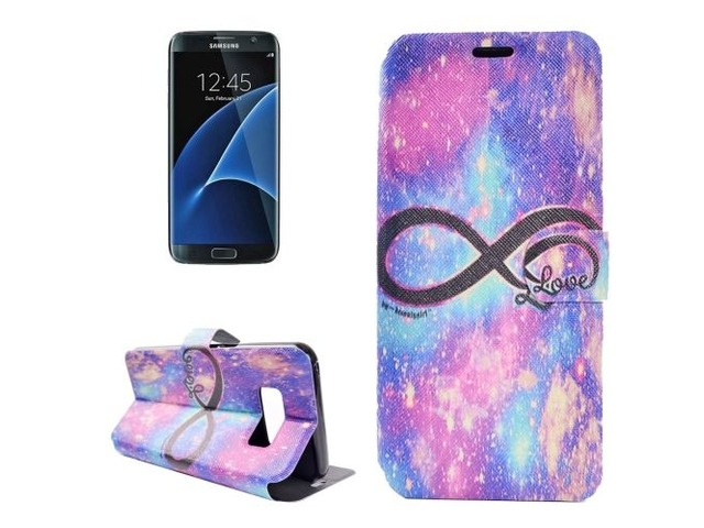 For Galaxy S 8 + Love Pattern Horizontal Flip Leather Case with Holder | free-classifieds-usa.com
