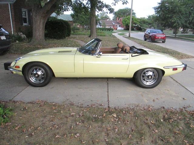 1974 Jaguar XKE Series 3 V 12 E Type Primrose Yellow OTS AC AUTO