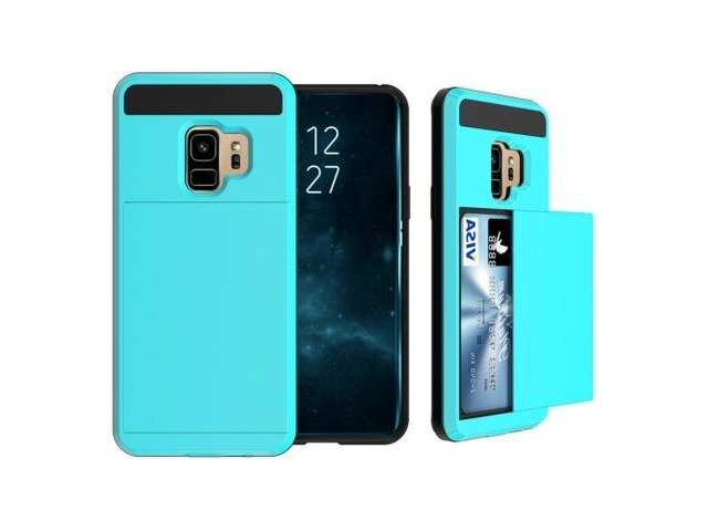 fe6c11481087 ForGalaxyS9AzureDetachableDropproofBackCoverCasewithSliderCardSlot
