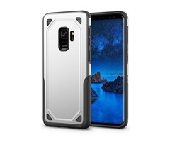 For Galaxy S9 Silver Shockproof Rugged Armor Protective Case