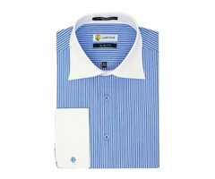 Buy Blue White Striped Dress Shirts Online From Labiyeur