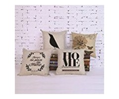Throw Pillow Covers Cotton Linen Sofa Cushions Case