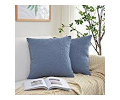 Kevin Textile Velvet Soft Soild Decorative Square Throw Pillow Covers Set