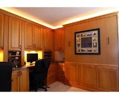 Home office cabinets with built in Murphy bed St. Pete Beach
