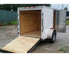 Trailer 5ft by 8ft White EXT NEW for SALE!