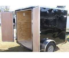 New trailers for sale! 6 foot x8 Vnose Cargo Trailer with Extra 3in. Height