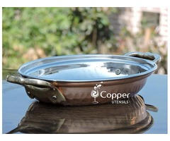 Shop for our copper Mughlai Rice Server from our Online Store CopperUtensilsOnline