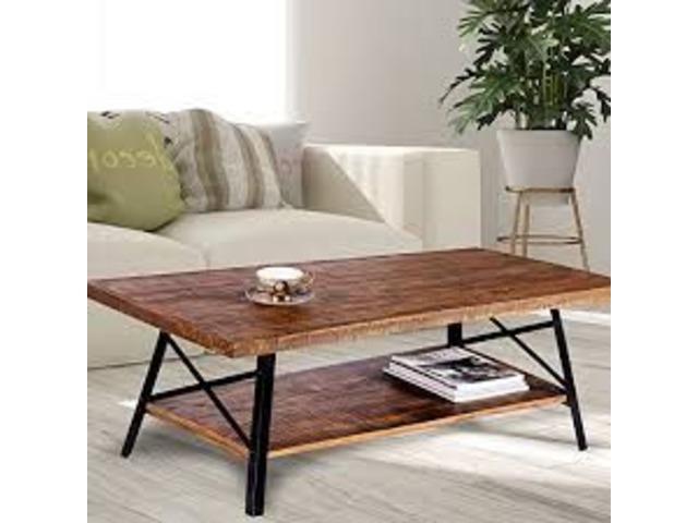 Olee Sleep 46 Cocktail Wood Metal Legs Coffee Table Home