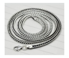 Silver chain for men