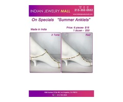 On Special Summer Anklets""
