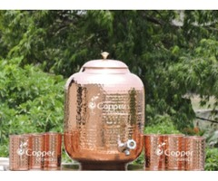 Shop for Twelve Liter Pure Copper Water Dispenser with Six Tumblers