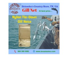 Gill Net for sale at best price-Nylon Tie-Down Gill Net at texastastes.com