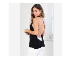Buy Sexy Spaghetti Strap Backless Tank Top