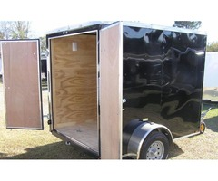 New 6 feet x8 feet Trailer Blk Ext Color w/Extra 3 inch Height