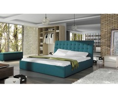 Beautiful button-tufted Neptune Boxspring Bed