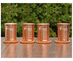 Shop for Pure Copper Hand Hammered Tumbler Set At Amazing Prices