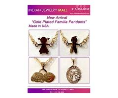 "New Arrival  Gold Plated Familia Pendants"""