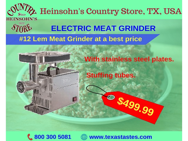 Electric Meat Grinder for sale | #12 Lem Meat Grinder at best price | free-classifieds-usa.com