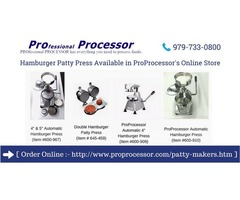 Best hamburger patty press available in - ProProcessor.com