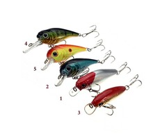 40mm Biomimetic Sinking Fishing Lure Crankbaits Bass Hook