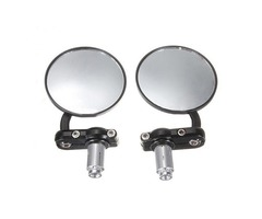 Motorcycle Aluminum 3Inch Round Handlebar End 7/8Inch Side Mirrors