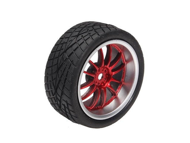 65mm Rubber Tire With Sponge Liner For 1:10 Smart Car Robot | free-classifieds-usa.com