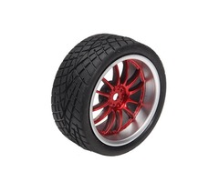 65mm Rubber Tire With Sponge Liner For 1:10 Smart Car Robot