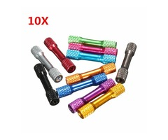 Suleve™ M3AR3 10Pcs M3 35mm Knurled Standoff Aluminum Alloy Multicolor | free-classifieds-usa.com