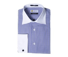 Buy Gingham French Cuff Dress Shirts Online