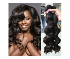 Cheap Hair! 6bundles/lot 100% Brazilian Human Hair Weave Wavy Body Wave Natural Color Hair Extension   free-classifieds-usa.com