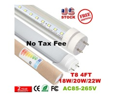 No Tax Fee + 4ft led t8 tubes Light 18W 20W 22W 1200mm Led Fluorescent Lamp Replace Light Tube AC 11