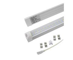 Double Row 8ft LED Lights T8 integrated tube 72w SMD 2835 LED Light Bulbs 110lm/w 2.4m led lighting
