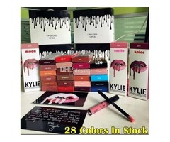 2017 christmas gift New Lipgloss Kylie Lip Kit by kylie Jenner Lipstick With Liner