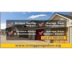 24/7 Garage Door Repair and Installation Irving TX| $25.95