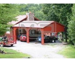 Double Metal Carports - Inexpensive Carport Solutions