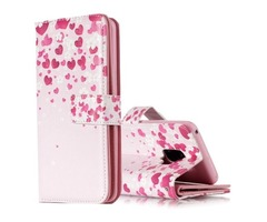 For Galaxy S9 Flower Pattern Flip Leather Case with Holder, Card Slots & Wallet