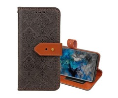 For Galaxy S9 Black European Embossed Leather Case with Holder, Card Slots & Wallet