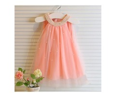 Beading Applique Princess Sleeveless Dress